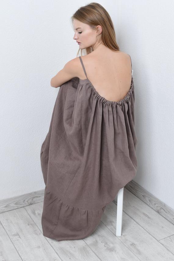 9d338558eb4 Maxi linen dress in 17 colors  linen pinafore dress  summer linen ...