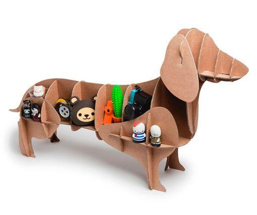 Perros de cartón de raza salchicha