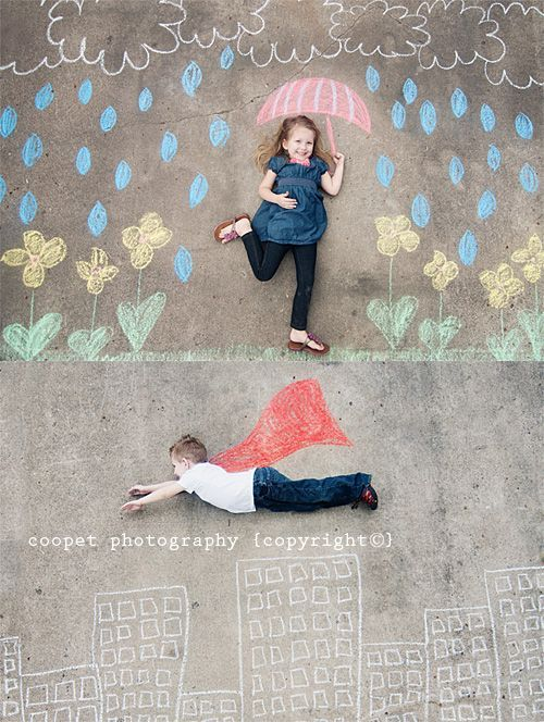summer photography with kids and chalk art!