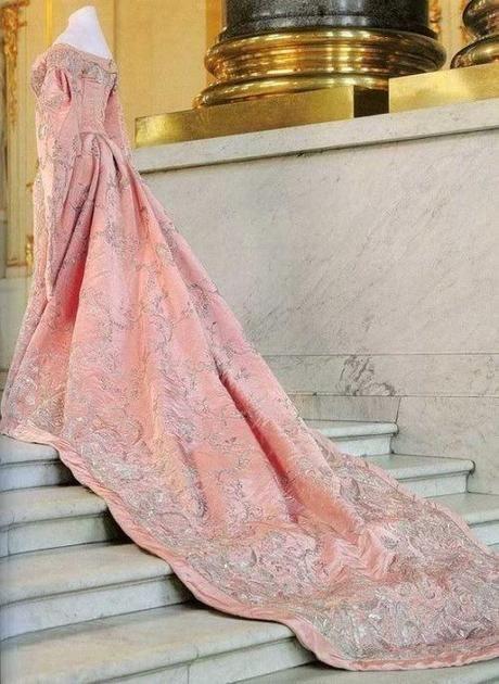 Dress of the Week – Court dress worn by Empress Maria Feodorovna- 1870s