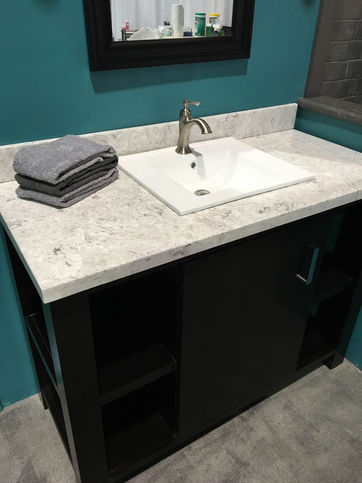 Cultured Marble Vanity Top With Bluntnose Edge Drop In