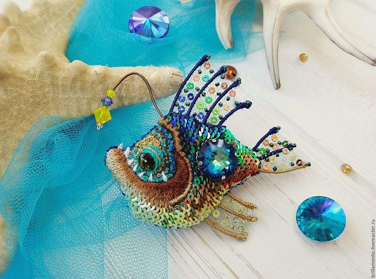 Купить Чудище Бермудских глубин - комбинированный, bermuda blue 2017, Сваровски, swarovski, конкурс, рыба