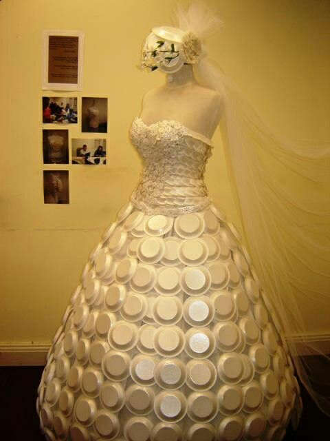 Recycled wedding dress
