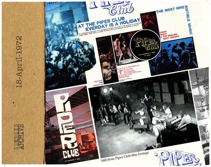 Il 18 aprile 1972 a Roma, al Piper Club, penultima data della prima parte italiana del Nursery Cryme Tour dei Genesis -SPECIAL HORIZONS RADIO - AUDIO & VIDEO
