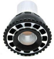 Foco LED tipo Spotlight marca Ilumileds, foco tipo dicroico, iluminaciÌ_n LED para interiores. Consume ̼nicamente 5 watts. Blanco cÌÁlido y blanco frÌ_o.
