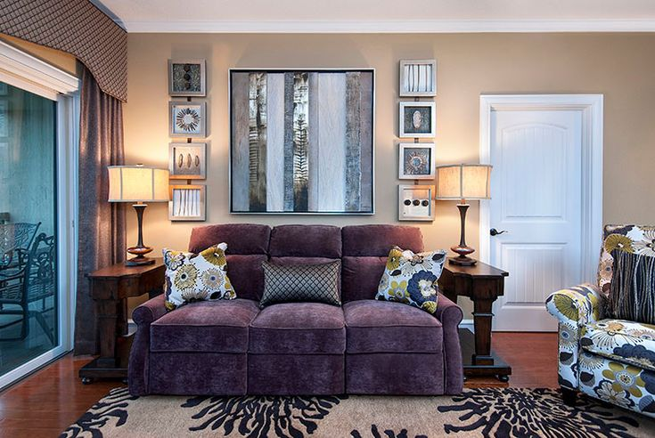 Glamorous power reclining sofa in Family Room Transitional with Floral Recliner next to Sleeper Chair alongside Sleeper Recliner and Interior Design Accessories