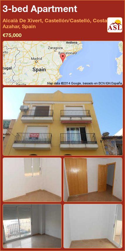 3-bed Apartment in Alcalà De Xivert, Castellón/Castelló, Costa Azahar, Spain ►€75,000 #PropertyForSaleInSpain
