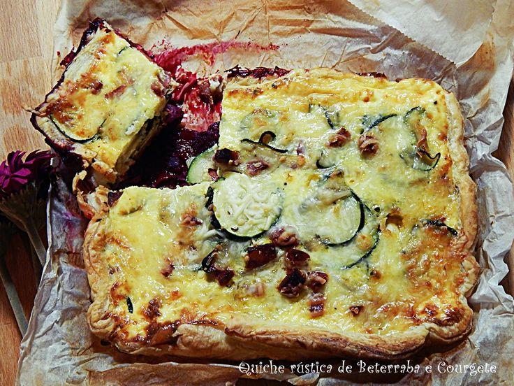 Dia Um... Na Cozinha - Quiche de Beterraba, Courgete e Carne
