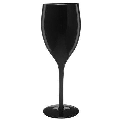 Set of 6 Midnight Black Wine Glasses