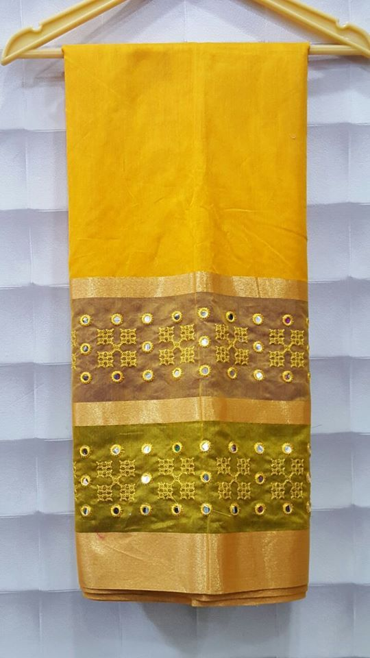 Embroidery French Knot Sarees is Available in a wide palette of colors and splendid designs, our embroidery sarees are ...