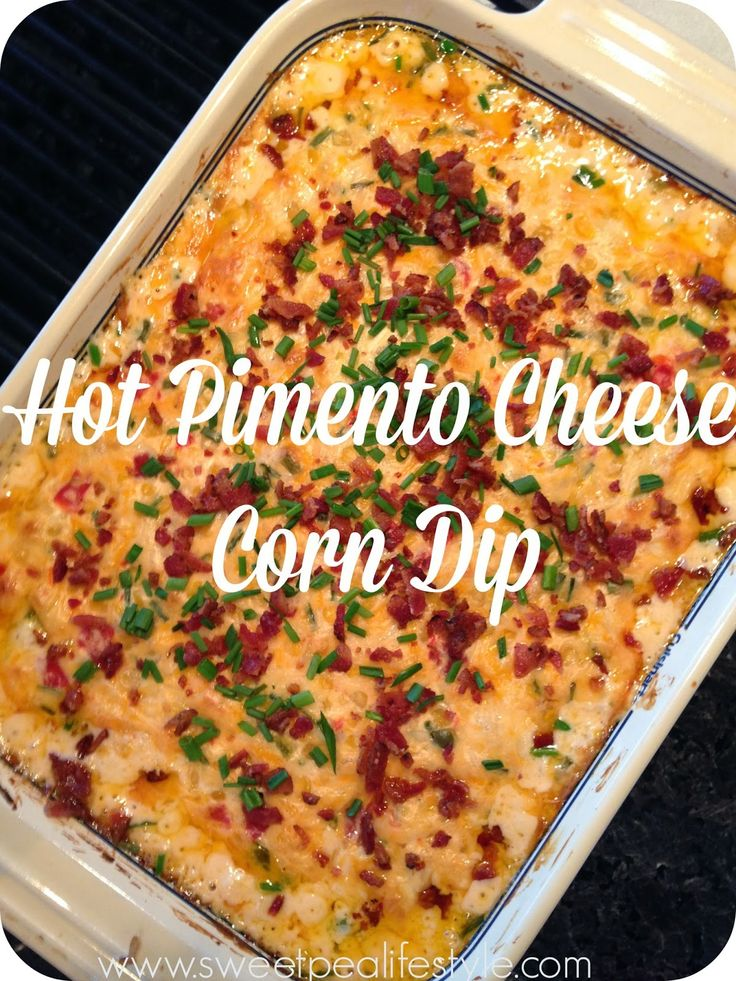 Pimento cheese dip with corn and extra chili peppers! Such a yummy ...