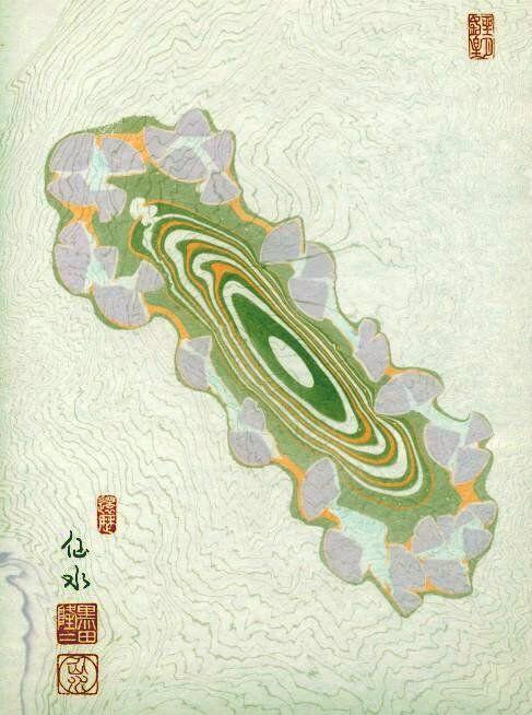 Combinations of Suimonga and Suminagashi or Majirozome