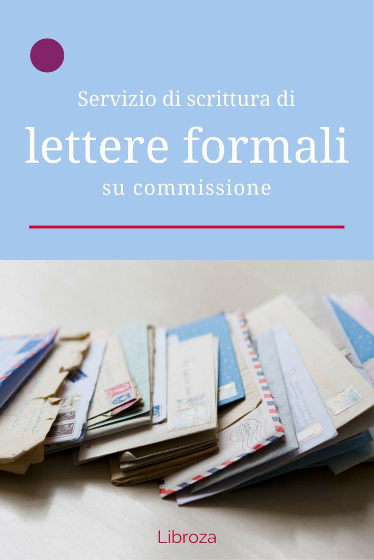Servizio di scrittura di lettere formali su commissione - Libroza.com