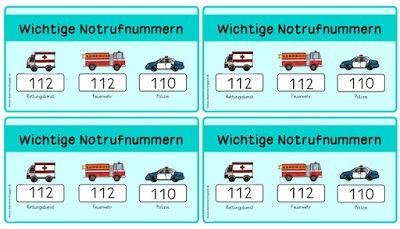 Sachunterricht in der Grundschule: Notrufnummern fürs Federmäppchen