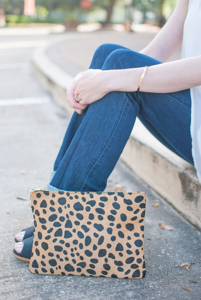 This BP. leopard clutch is a year round piece that you can wear with jeans, an LBD or anything in between.