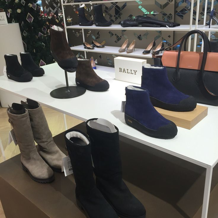 Bally winter shoes Image captured at Stockmann Helsinki flagship store