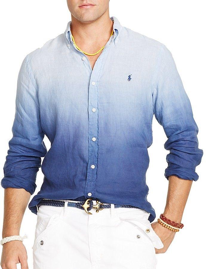 Polo Ralph Lauren Dip Dyed Linen Button Down Shirt - Regular Fit