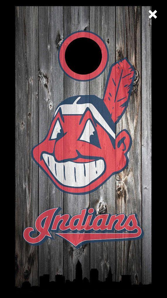 Cleveland Indians Cornhole Set by CornholeIconsInWood on Etsy