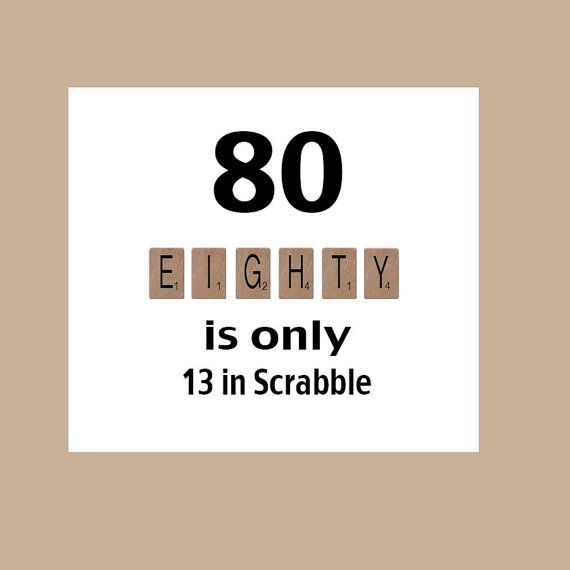 80th Birthday Card, 80th Birthday, Milestone Birthday, The Big 80, Scrabble Birthday Card