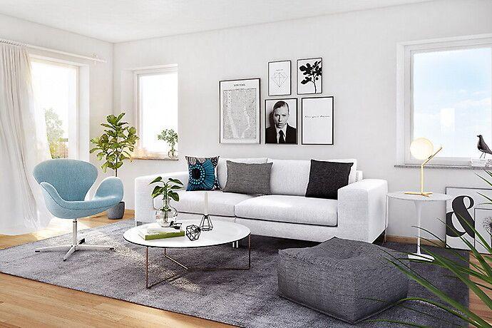 Bilder, Vardagsrum, Vit, Soffa - Hemnet Inspiration