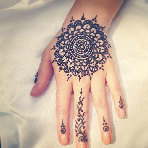 Simple Mehndi Mandala : Best simple henna designs images on pinterest
