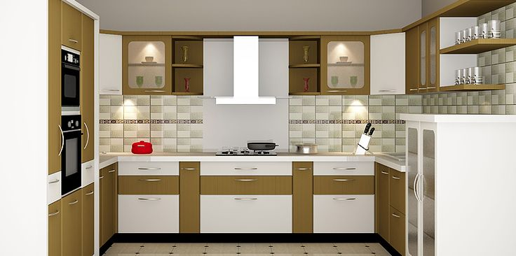 15 best pondicherry modular kitchen images on pinterest for Traditional modular kitchen