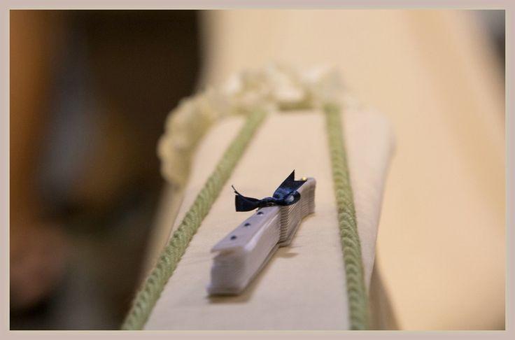 ventaglio per gli ospiti di un matrimonio estivo