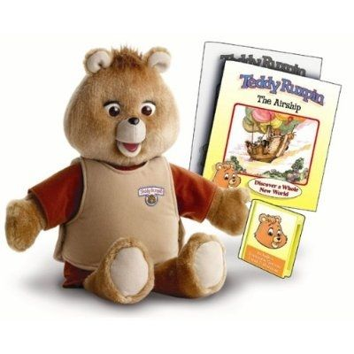 """Teddy Ruxpin! The first toy that told stories. Really good for kids that were an """"only child"""", and rich. Ha!"""