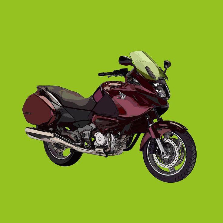 Honda Deauville NT700V  Si te gusta mis trabajos, Sígueme. If you like my artworks, Follow me.  #honda #deauville #nt700v #hondadeauville #hondant700v #instamoto #moto #motocycle #motohonda #motorbike #motocicleta #alvarodintenmoto #draw #drawing #design #diseño #dibujo #green #rojocarnelian #hondaespana #hondaeshonda
