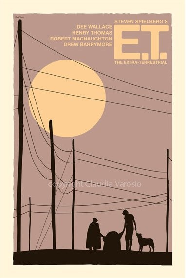 E.T. the Extra-Terrestrial (1982) - Minimal Movie Poster by Claudia Varosio #minimalmovieposter #alternativemovieposter #80smovies #ClaudiaVarosio