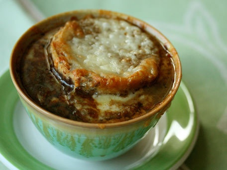 Irish Onion Soup with Guiness.. St. Patty's Day dinner :D