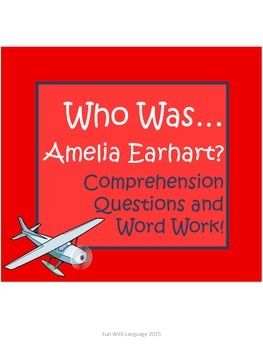 """Amelia Earhart Biography by Jerome """"Who Was..."""" Comprehens"""