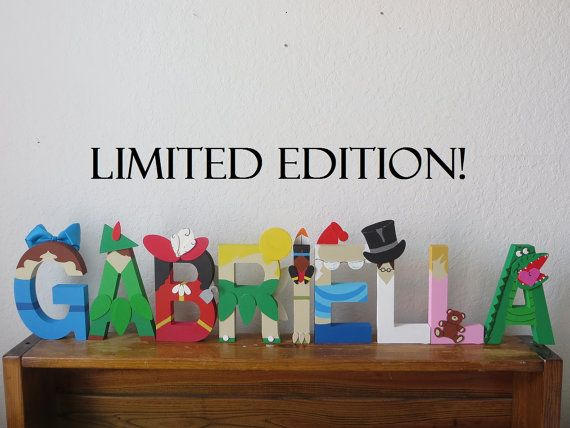 limited edition peter pan block letter art by theletterbug on etsy 1300