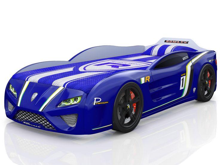 Кровать-машина Romack SportLine синяя