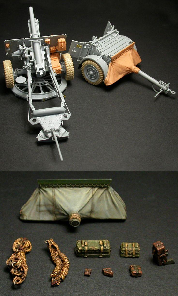1/35 resincast model British 25-Pdr. Field Gun Mk.II Detail up (for Dragon)