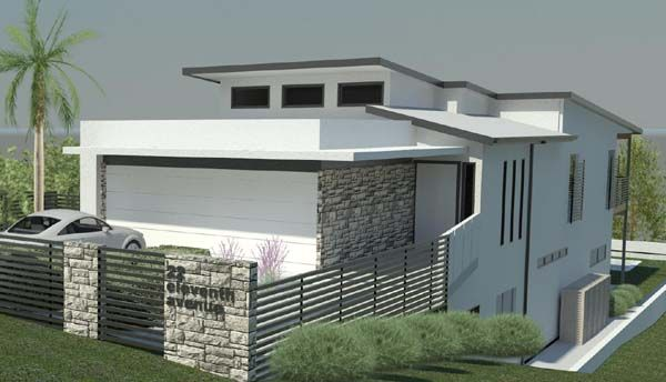 7 best images about sloping block on pinterest for Townhouse plans for small blocks