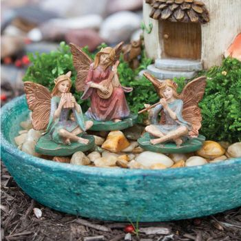 Pond Symphony Mini Garden Fairy Statuary Set from New Creative by Evergreen Enterprises (www.myevergreen.com)