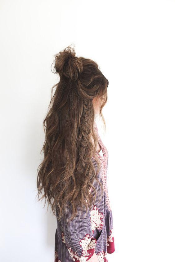 cabello largo idea peinado