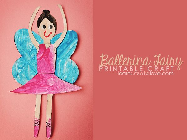 {+Printable+Ballerina+Fairy+Craft+}