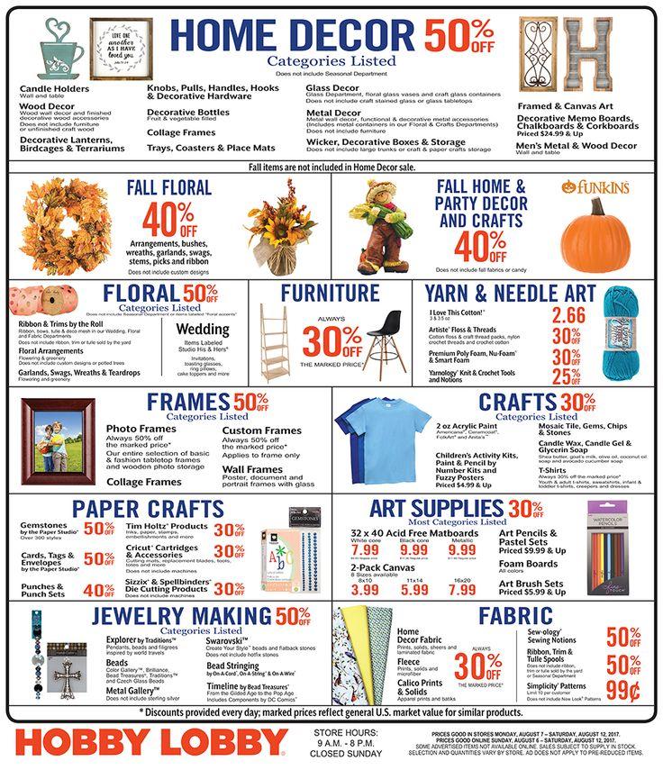 This weeks sales at Hobby Lobby #Creatives #Art http://www.hobbylobby.com/find-savings/weekly-ad