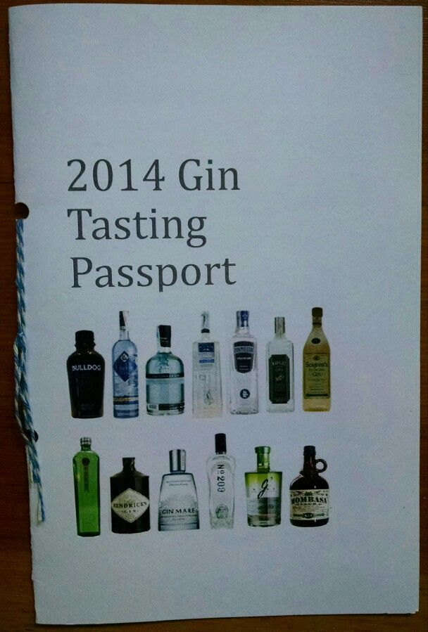 Passport for each guest with history of gin, notes about each type of gin with room to comment, plus gin and tonic rating page.