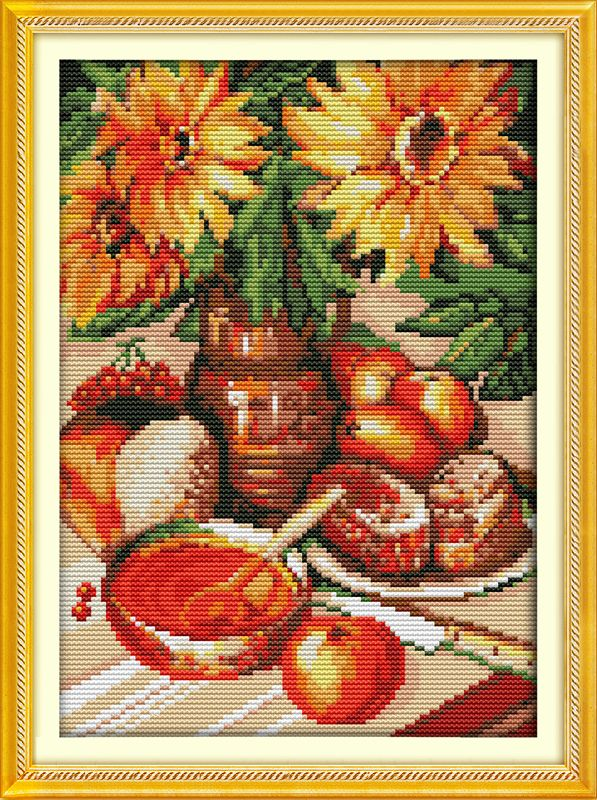Время послеобеденного чая (2), подсчитывали напечатаны на ткани DMC 14CT 11CT Вышивка Крестом наборы, вышивка рукоделие наборы, Домашний Декор