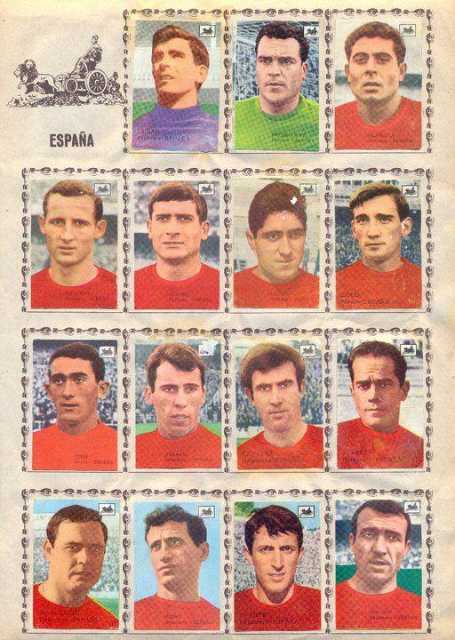 Selección Española. 1965-66. Cromos La Cibeles.