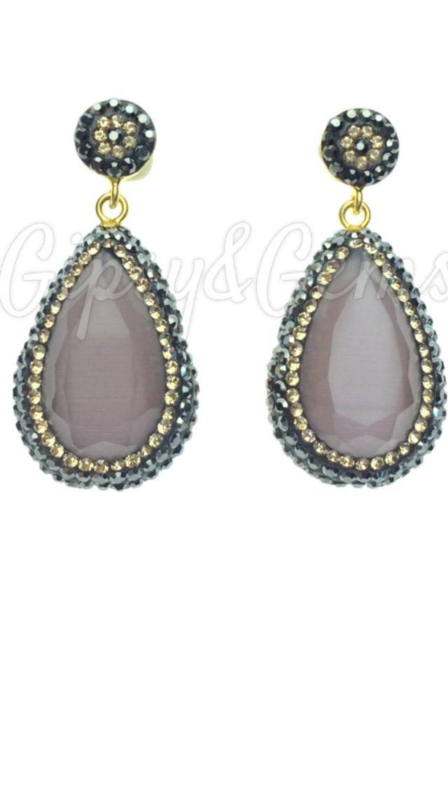 Gipsy&Gems single drop catseye earrings