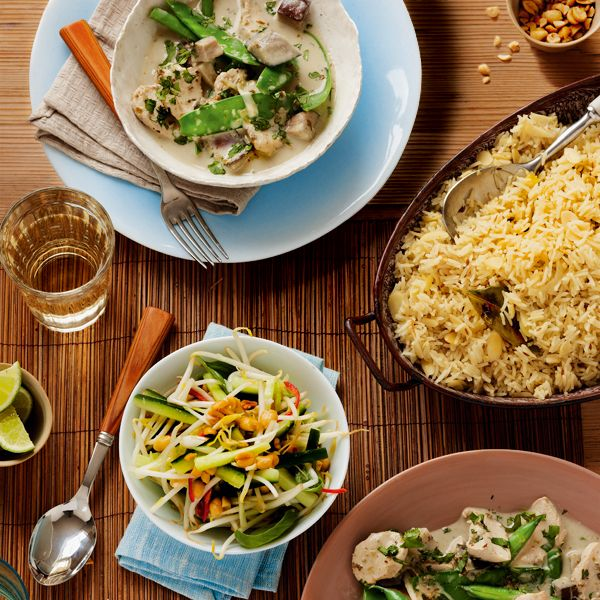 Who says entertaining midweek has to be stressful? Create an impressive Thai feast in just half an hour, so you can take it easy when your guests arrive.