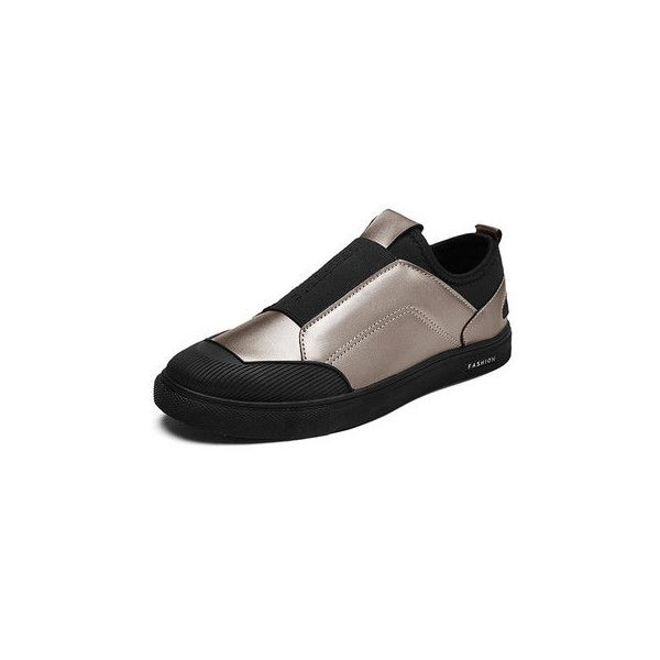 Eleatic Band Slip On Trainers (1,480 DOP) ? liked on Polyvore featuring  men\u0027s fashion, men\u0027s shoes, men\u0027s sneakers, golden, golden goose mens shoes,  mens ...