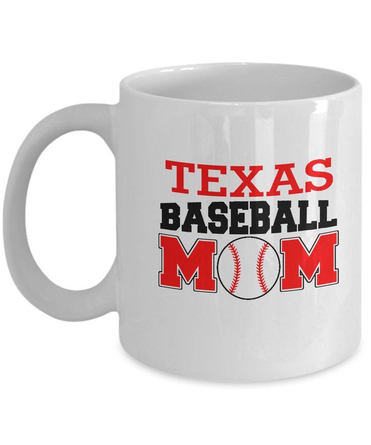 Texas Baseball Mom Baseball Fanatics Mom special coffee mugs sports lovers - 11 OZ Funny Coffee mugs tea cup Gift Ideas White Coffee mugs