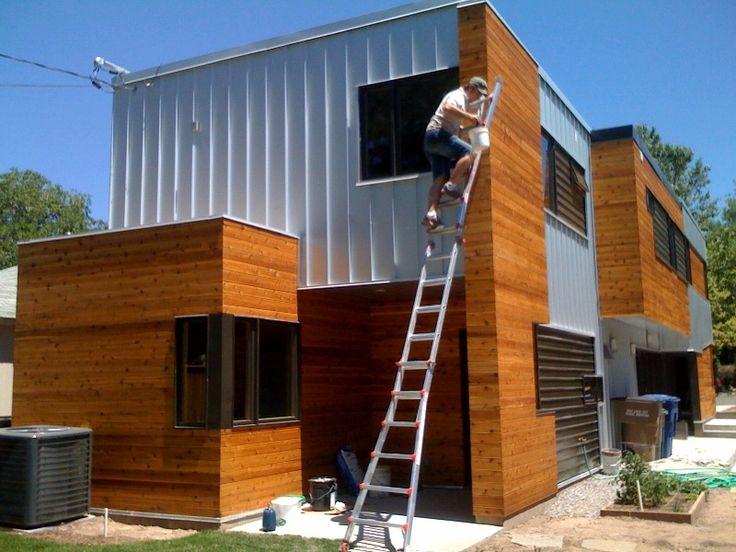 modern house wood siding