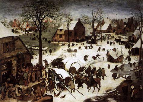 Batailles de boules de neige au Moyen Age The Census at Bethlehem by Pieter Bruegel the Elder 1566 720x514 histoire bonus