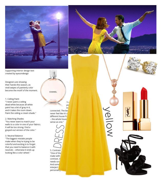 """In la la land 💃🏼🕺🏻 #lalaland #contest #polyvore #polyvoremovie #movie #polyvoreid"" by vikapranika on Polyvore featuring Warehouse, Marco de Vincenzo, LE VIAN, Yves Saint Laurent and Chanel"